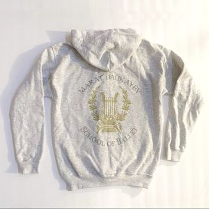 MARAT DAUKAYEV ballet school zip up hoodie sweater